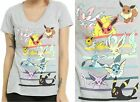 Pokemon Eevee Evolutions T-Shirt For Juniors ~Licensed Nintendo~ Free Ship