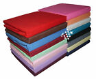 NEW STYLISH 4FT SMALL DOUBLE POLYCOTTON 19 DIFFERENT COLOURS FITTED BED SHEET