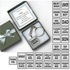 Best Man gift personalised keyring Usher Page Boy Father Bride Groom Son Witness