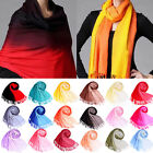 New Women Lady Gradient Color Tassel Winter Long Scarf Pashmina Stole Shawl Wrap