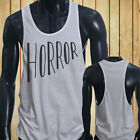 Horror Halloween Scary Gore Costume Vampire Blood Mens White Sports Tank Top