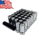 20 Aftermarket 14x2.0 Lug Nuts Chrome Long Spline Tuner Car Truck SUV Fits Ford