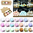 3x LARGE Jumbo Bath Bombs GIFT BOXED W/ Shea Butter UK Handmade Lush Smells