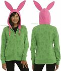 BOBS BURGERS LOUISE BELCHER COSTUME HOODIE WITH BUNNY EARS AND KUCHI KOPI PRINT