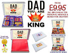KING DAD Personalised Gift Hampers Chocolate Selection or Retro Sweeties Boxes