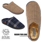Mens Ultra Light Faux Fur Lined Warm Winter Comfort Gent Slip On Slippers Mules