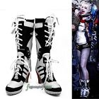 Batman DC Comic Suicide Squad Harley Quinn Cosplay Shoes Boots High Quality