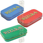 RIZLA 1oz Hinge Tobacco Rolling Paper Tin 3 Colours to Choose Hinged