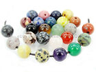 20Pcs Natural Gemstones Stone 2mm Big Hole Round Loose Beads 6mm 8mm 10mm 12mm