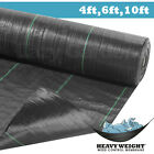4ft,6ft,10ft weed control fabric garden landscape membrane ground cover sheet