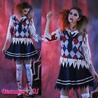 Ladies Halloween Zombie School girl Horror Scary Fancy Dress Costume