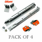 BLUM 563F Series -4 Pairs of Tandem BLUMOTION Drawer Slides with Locking Devices