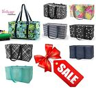 Thirty one Medium LARGE UTILITY TOTE storage Bag basket 31 gift Lotta colada