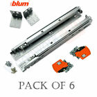 BLUM 563F Series -6 Pairs of Tandem BLUMOTION Drawer Slides with Locking Devices