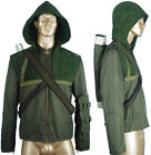 Kids Boys Green Arrow Oliver Queen Hoodie Jacket Coat Halloween Cosplay Costume