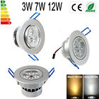recessed light fixtures - 6PCS 3W/7W/12W LED Ceiling Down Light Fixture Recessed Lamp Spotlight 110-220V