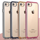 Luxury Silicone Crystal Clear Cover Case Rubber Shockproof for Apple iPhone 7
