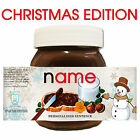 SNOWMAN CHRISTMAS Personalised NUTELLA Gift Love Fun Chocolate Spread Party