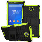 Hybrid Shockproof Rugged Rubber Stand Hard Case Protective Cover For Sony Xperia
