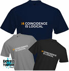 COINCIDENCE IS LOGICAL - T Shirt, Johan Cruyff, Football, Dutch, 14 Quality, NEW