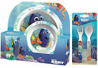 Disney Finding Dory | Nemo 5pc Tumbler, Bowl, Plate Set & Cutlery | Meal Time
