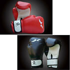 Professional PU Leather Boxing Training Gloves Kick Fight Black/Red One Pair