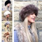 NEW LADIES FASHIONABLE BLACK FAUX FUR HEADBAND HAIR BAND CELEB LOOK WINTER