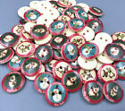 Christma Buttons Wooden Christmas reindeer snowman Mix sewing scrapbooking 15mm