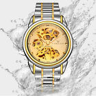 Fashion Men Women Mechanical Watches Stainless Steel Sport Casual Wrist Watch