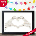 Wedding Day Print - Personalised Mr & Mrs Word Art Gift - Wedding Print Gift