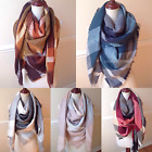 NEW Women's Oversized Blanket Tartan Wrap Scarf XL Square Shawl Plaid Pashmina