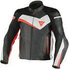 Dainese Veloster Black White Fluo Red Leather Motorcycle Jacket RRP £360!