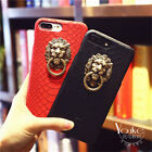 Retro Mighty Lion Head Creative Leather Hard Case Cover For iPhone 7 6 6S Plus