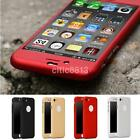 360°Full Hybrid Tempered Glass + Plastic Hard Case Cover For iPhone 6 7 Plus US