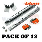 BLUM 563F Series 12 Pairs of Tandem BLUMOTION Drawer Slides with Locking Devices