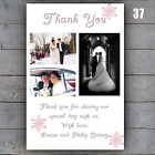 Photo Snowflake Wedding Thank You Cards Personalised