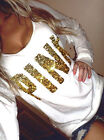 New Fashion Women's Lady Gold Pattern Loose Long Sleeve Casual Blouse Shirt Tops