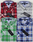New Tommy Hilfiger Mens Short Sleeve Button Front Plaid Shirt Variety M L XL XXL