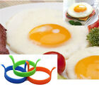 Silicone Round Egg Rings Pancake Mold Ring w Handles Non Stick Fried Frying GT