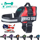 PetPets Service Dog Harness Nylon Vest Therapy With Removable Reflective Patches