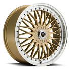 NEW (Set of 4) 17X7.5 SPEC-1 style # 3S rims 4x100 4x114.3 +38 gold finish