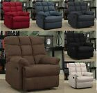 Lounger Microfiber Recliner arm chair Wall Hugger padded gravity home theater