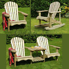 Murcia Solid Wood Outdoor Adirondack Chair Garden Patio Wooden Rocking Furniture