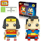 Superman and Wonder woman wedding engage gift toy souvenir LOZ iBLOCK Lego Nano