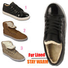 Ladies Fur Lined Womens Quilted Pattern Winter Sports Warm Trainers Shoes Size