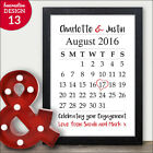 Personalised Engagement Gift Special Date Calendar Keepsake Print Couples Mr Mrs