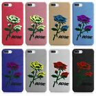 For iPhone 7 6S Plus Fashion Retro Flower 3D Embroidery Rose Pattern Case Cover