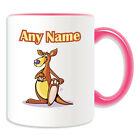Personalised Gift Kangaroo Mug Money Box Cup Animal Design Australia Boxing Cute