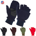 Внешний вид - Fleece Convertible Fingerless Winter Warm Mitten Gloves Men Women Teens