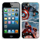 Marvel captain america case fits Iphone 4s 5c SE 5s 6 s 7 cover mobile 12 phone d'occasion  Royaume-Uni